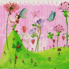 4x Single Table Party Paper Napkins for Decoupage Decopatch Craft Lucky Fairy