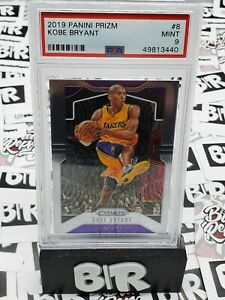 2019-20 Panini Prizm Basketball Kobe Bryant No.8 PSA 9 Los Angeles Lakers HOF