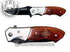 TAC FORCE Knife Pocket Folding Speedster Bolster Wood Handle Masonic Compass 1