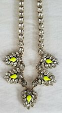 J. Crew neon yellow feather necklace
