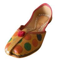 Women Shoes Leather Jutties Flip-Flops Ballerinas Brown UK 3-6 EU 35.5-39