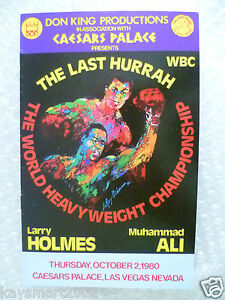 1980 MUHAMMAD ALI v LARRY HOLMES, 2 Oct  - Pamphlet