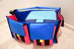 Large Crib Bag, Blue & Pink