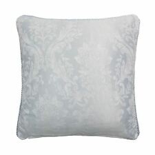 "WOVEN DAMASK ROPE TRIM SILVER BLUE GREY 17"" - 43CM CUSHION COVER"
