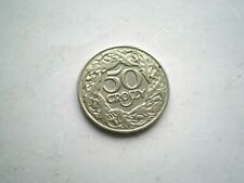 EARLY 50 GROSZY COIN FROM POLAND 1923-NICE