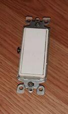 Genuine Leviton 15 Amp 120 V White Rocker Light Switch With Screws *Read*