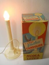 "NOMA LITES SINGLE ELECTRIC 10"" CANDOLIER CHRISTMAS CANDLE ORIGINAL BOX #151 L#3"