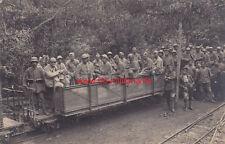 Postkarte französische Gefangene auf Eisenbahn- Waggon um 1917 nach Ludwigsburg