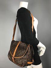 AUTH VintageLouis Vuitton Monogram Saumur  35 Shoulder Crossbody Bag AR0942