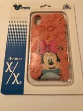 Disney Parks Exclusive Minnie Mouse Flower Apple iPhone X/Xs  Cellphone Case New