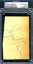 Ingrid Bergman Vintage Psa/dna Authenticated Signed 3x5 Index Cut Autograph