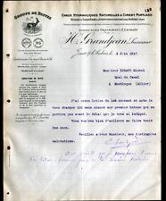 """JOUET-sur-l'AUBOIS (18) CARRIERES / CHAUX & CIMENT de BEFFES """"E. GRANDJEAN"""" 1912"""