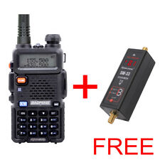 BAOFENG UV5R 5w FM RADIO FREE FOR + SURECOM SW33MARK2 mini Power & SWR Meter