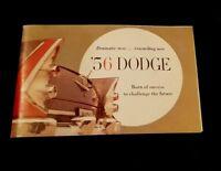 '56 DODGE 1956 Dodge Miniature Catalog Brochure ~ Complete line 36 pages