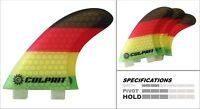Hexcore Honeycomb RTM FCS M3 Style Thruster Surfboard Fin - Rasta - C3