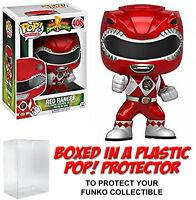 Funko POP! Television ~ METALLIC RED RANGER (#406) VINYL FIGURE w/Protector Case