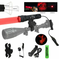 VASTFIRE 350 Yard Zoomable Green or red Flashlight Predator Varmint Hog Light