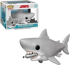"""Jaws Great White Shark With Tank Funko Pop Movies Large Figure 6"""" 759 FASTPOST"""