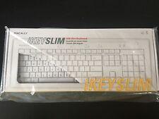 (1) SEALED BNIB MacAlly iKEYSLIM USB Slim Wired Keyboard IKEY5 (White) Macs OS X