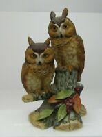 VTG Andrea By Sadek Horned Owl Retired Porcelain