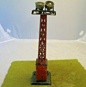 Vintage Marx ? PreWar  Red Tower Light Spot Light Part Repair Restore.