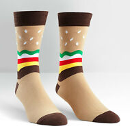 Sock It To Me Men's Crew Socks - Burger