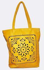 Ladies Women's Fashion Designer Yellow Large tote handbag shoulder purse bag