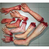 Halloween Horror Props Bloody Hand Scary Hand Finger Leg Foot Brain Heart Prop