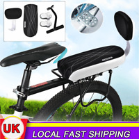 Bicycle Bike Padded Rear Seat Child Kids Safety Back Rest Chair Cushion Armrest