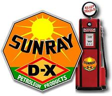 """(DX-3) 24"""" SUNRAY DX GASOLINE OIL PUMP AND LUBSTER DECAL"""