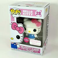Funko POP Hello Kitty FLOCKED Classic Amazon Exclusive Sanrio NEW Pink Fast Ship