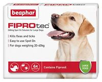 Beaphar FIPROTEC Flea Spot On Treatment For Large Dogs 1,3,6 Pipettes