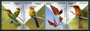 Guinea-Bissau Birds on Stamps 2020 MNH Bee-Eaters Bee-Eater 4v Strip