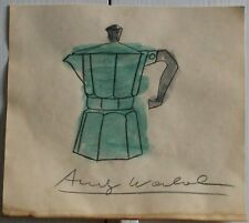Ink drawing watercolor signed ANDY WARHOL