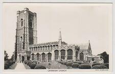 Suffolk postcard - Lavenham Church - RP - P/U