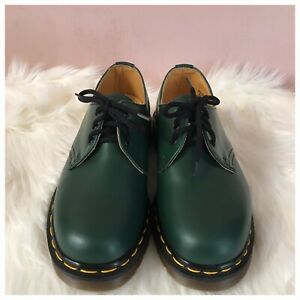 Dr. Martens Authentic Vintage 1461 Green Oxford NIB Made In England Size UK4/US5