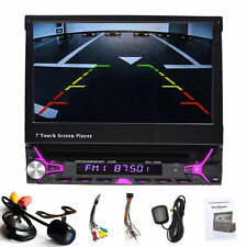 7'' 1Din Aux RDS Autoradio Bluetooth Navigation GPS Car Stereo DVD Player+Camera