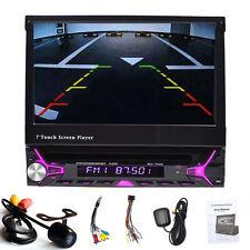 7'' 1Din Aux RDS Autoradio Bluetooth Navigation GPS Car Stereo DVD Player+Camera