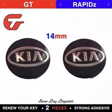 2x Replacement 14MM Car Key Sticker For KIA Fob Emblem Badge Radio Button