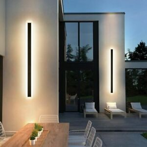 Outdoor Wall Lamp Waterproof Light Led Strip Light Line Light Porch IP65 Sconce