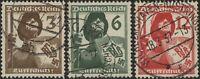 Stamp Germany Mi 643-5  Sc 481-3 1937 Fascism Raid Protect Soldier Used