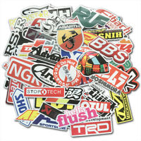 100Pcs Auto Car Parts NHRA Drag Racing Vinyl Graphics Stickers Bomb Decals Pack