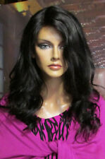 Long Lace Front 100% Human Remi Dark Brown  Wavy  Side/Part