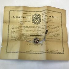 More details for catholic reliquary relic of st roberti bell e case with wax seal & coa