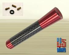 Mitsubishi Evo 8 9 JDM Red Carbon Aluminum Screw-in Car Auto AM/FM Antenna