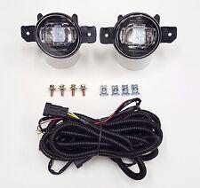 Fit 04-16 Nissan Sentra Infiniti G37 Front Bumper Clear Fog Light Kit LED DRL
