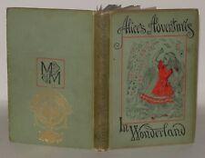 Alice's Adventures In Wonderland -BOOK- Lewis Carroll, HB, 1893, Peoples Edition