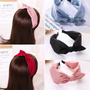 Womens Wide Headband Twist Hairband Bow Knot Cross Tie Headwrap Hair Band Hoop