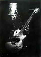 ORIGINAL Buckethead Charcoal Artwork
