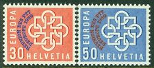 SWITZERLAND : 1959. Scott #376-7 Europa Overprint set. Catalog $75.00.